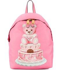 moschino cake teddy bear backpack - pink