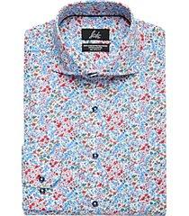 suitor pink floral slim fit dress shirt