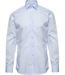 cotton poplin skjorta business blå bosweel