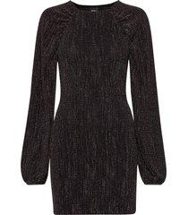 amberlee puff sleeve dress kort klänning svart gina tricot