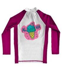 camiseta de lycra comfy aloha rosa