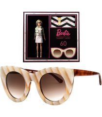 thierry lasry x barbie neutral cat eye sunglasses