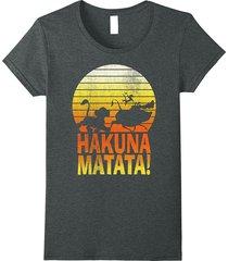disney lion king hakuna matata profile graphic t-shirt women