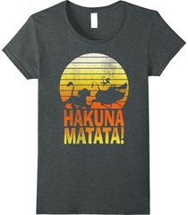 disney lion king hakuna matata profile graphic t-shirt women