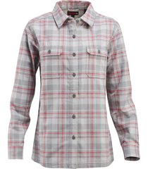 wolverine women's redwood shirt jac lead plaid, size xxl