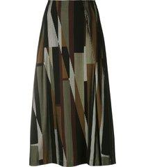alcaçuz rigor a-line skirt - multicolour