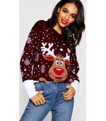 reindeer christmas sweater, wine