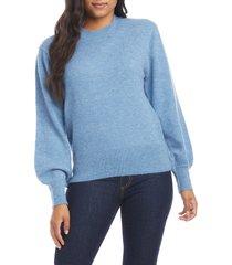 women's karen kane blouson sleeve sweater, size small - blue