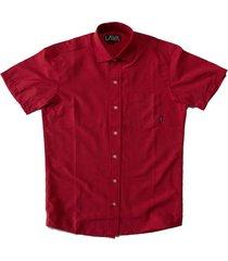 camisa roja lava puntos