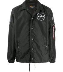 alpha industries nasa satin-shell jacket - black
