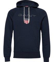 shield hoodie hoodie trui blauw gant