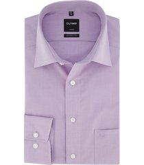 overhemd olymp luxor modern fit lila strijkvrij