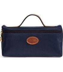 longchamp 'le pliage' pouchette, size one size - navy