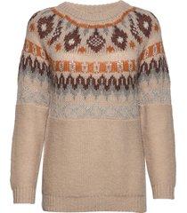 jackiecr pullover gebreide trui multi/patroon cream