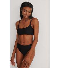na-kd swimwear recycled bikiniunderdel med hög midja - black