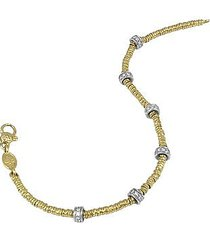 torrini designer bracelets, rondelle moving mini - 18k gold and diamond chain bracelet