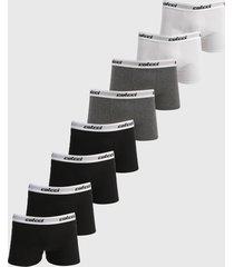 kit 8pçs cueca colcci boxer logo cinza/preto