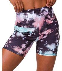 "onzie women's 5"" biker shorts - true romance tie dye - x-small spandex"