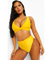 essentials high leg high waist bikini brief, orange