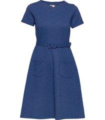 paula jurk knielengte blauw jumperfabriken