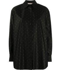 christopher kane crystal-embellished shirt - black
