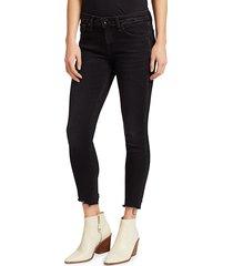 rag & bone women's cate frayed skinny ankle jeans - jardine - size 31 (10)