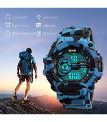 camuflaje blue reloj skmei personalizado deportivo nadando