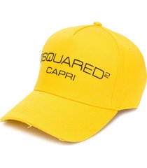 dsquared2 capri baseball cap - yellow
