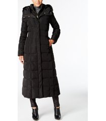 cole haan signature petite layered maxi puffer coat