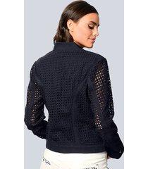 kort jacka alba moda marinblå