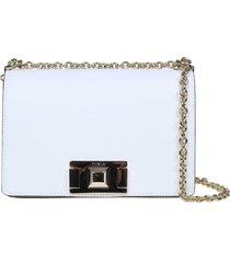 furla mimi mini shoulder bag in white color leather