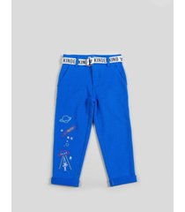 kinderkind big and toddler boy's knit pant with grograin belt
