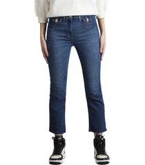jeans mini flare a vita alta