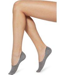 calzedonia glitter cotton invisible socks woman grey size 34-36