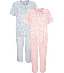 pyjama's per 2 stuks harmony oudroze::ecru::rookblauw