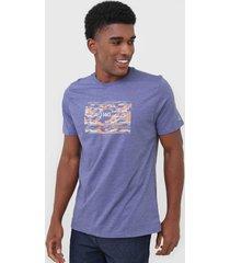 camiseta wg camo flãºor azul - azul - masculino - dafiti