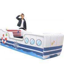 cama carro infantil marinheiro branco