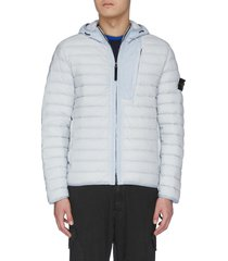 loom woven down stretch puffer jacket
