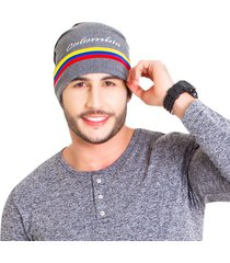 gorro colombia gris liso tall