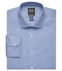 travel tech collection tailored fit spread collar houndstooth shirt clearance, by jos. a. bank
