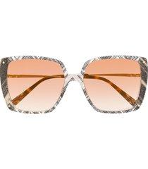 missoni eyewear oversized abstract print sunglasses - grey