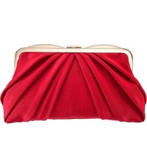 nina pleated frame clutch