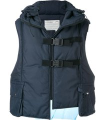 a-cold-wall* hooded padded vest - blue