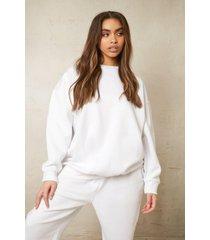 oversized gerecyclede sweater, white