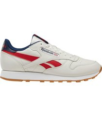 zapatilla blanca reebok cl leather mu