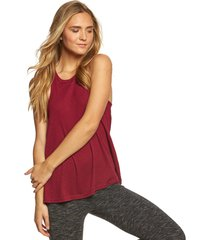 free people women's slub long beach tank top - wine x-small spandex