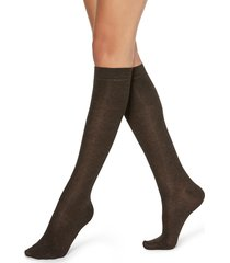 calzedonia - patterned knee-high socks, one size, brown, women