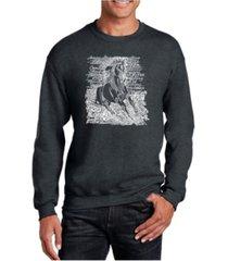 la pop art big & tall men's word art popular horse breeds crewneck sweatshirt