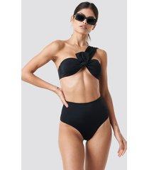 trendyol high waist bikini bottom - black