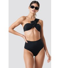 trendyol high waist bikini bottom - black